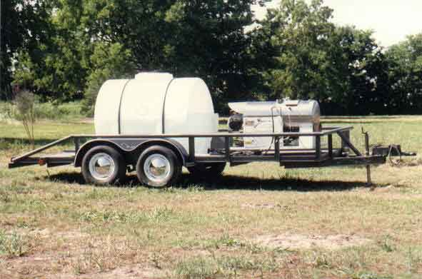 """GPO"" Gasoilne Portable Oil-fired Mounted on trailer with 525 gallon Tank"